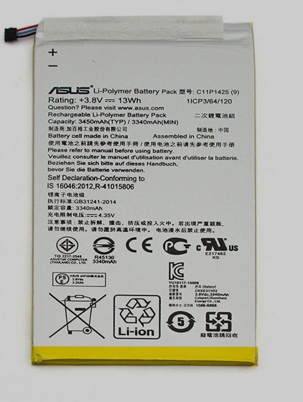 ولتاژ باتری تبلت